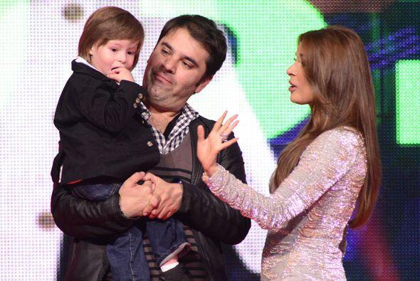 Galilea Montijo y su hijo Mateo.