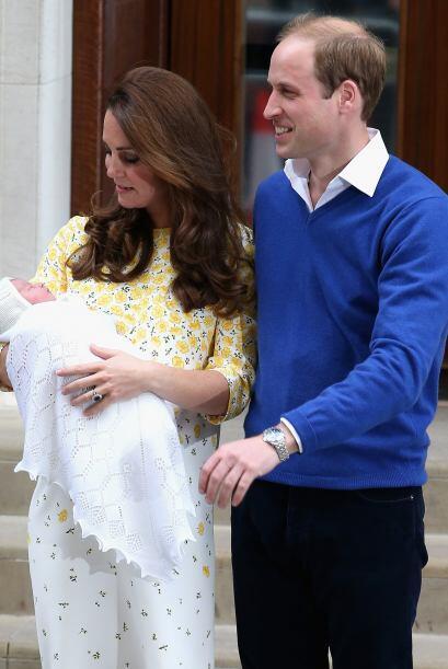 Los duques estaban sumamente felices con la llegada de su preciosa bebé.