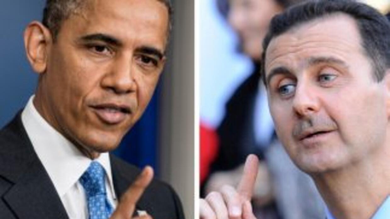 Barack Obama y Bashar al Assad, en una composición fotográfica.