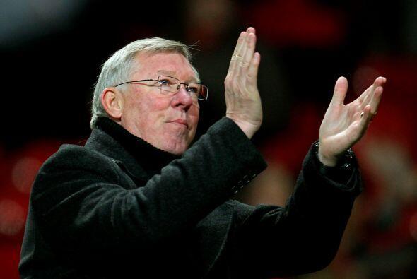 Sir Alex Ferguson se fue muy feliz con el resultado y aplaudió a...
