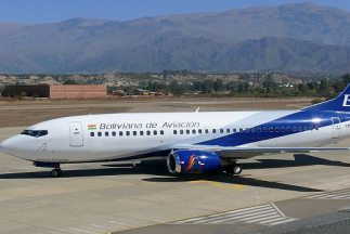 La aerolínea estatal Boliviana de Aviación. Foto tomada de Twitter.