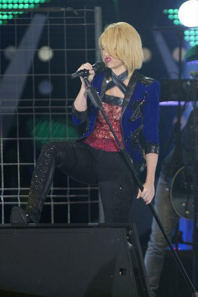 Shakira interpretó los temas 'Loca' y 'Devoción' en el Palacio de los De...