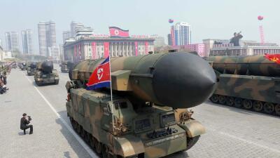 Desfile militar en Pyongyang.