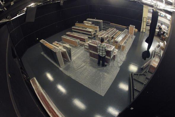 El estudio se ensambló en Miami, luego se desmontó y se tr...