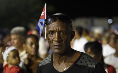 Un cubano en los actos oficiales por el fallecimiento de Fidel Castro