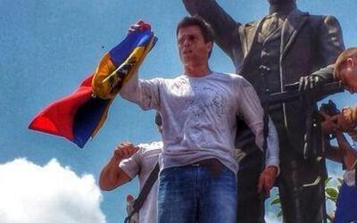 Así fue el discurso de Leopoldo López antes de entregarse a la Guardia N...