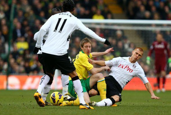 El Norwich y el Fulham se enredaron en un empate sin goles.