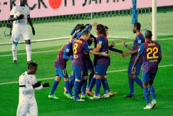 A pesar de la mala noticia, el Barcelona golpeó nuevamente. Adria...