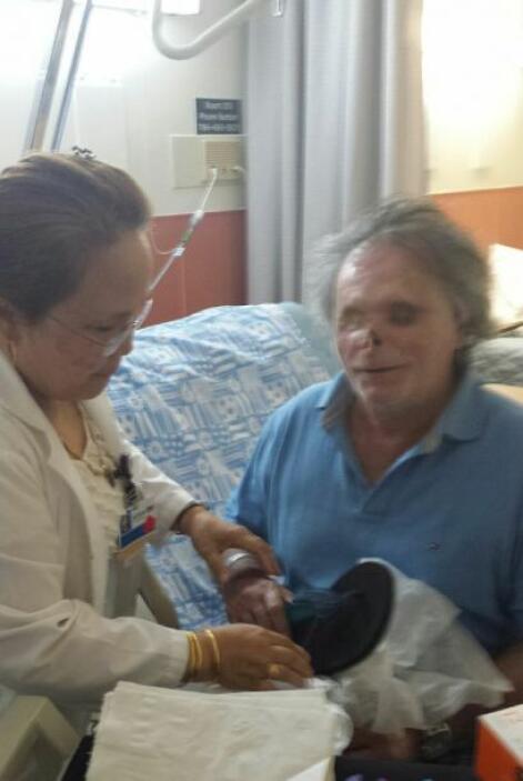 Ronald Poppo, la víctima del caníbal, ha ganado unas 50 libras de peso....