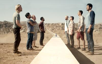 Imagen del anuncio del muro propuesto por la cerveza mexicana Tecate.