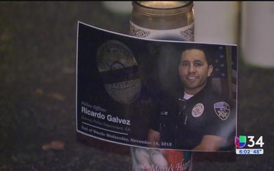 Rosario en honor al policía Ricardo Gálvez