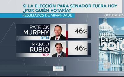 Votación de residentes de Miami-Dade daría empate entre Murphy y Rubio,...