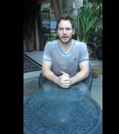 Chris Pratt, ¿qué haces ahí sentadito?, ¿te animas al Ice Bucket Challenge?
