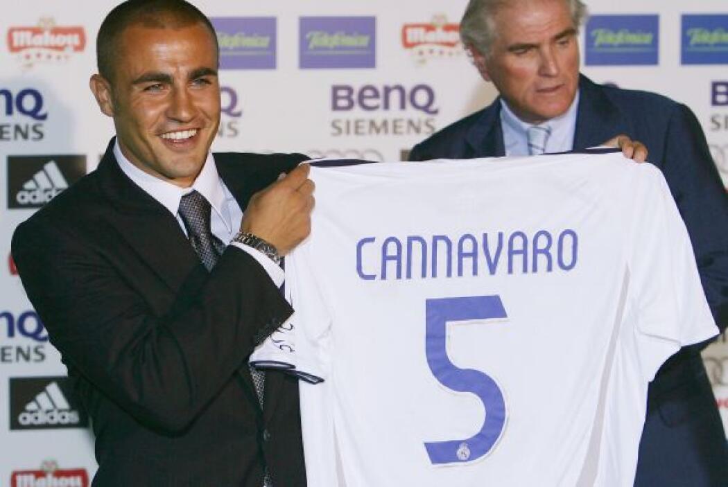 El italiano Fabio Cannavaro llegó a la casa blanca procedente del Juvent...