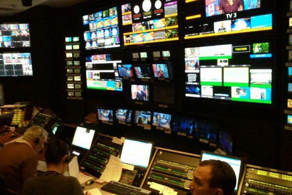 Así luce el cuarto de controles de los estudios de Good Morning America.