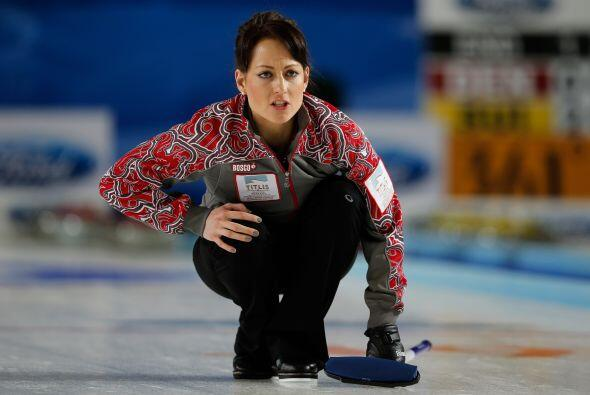 Ekaterina Galkina también pertenece al equipo ruso de curling.