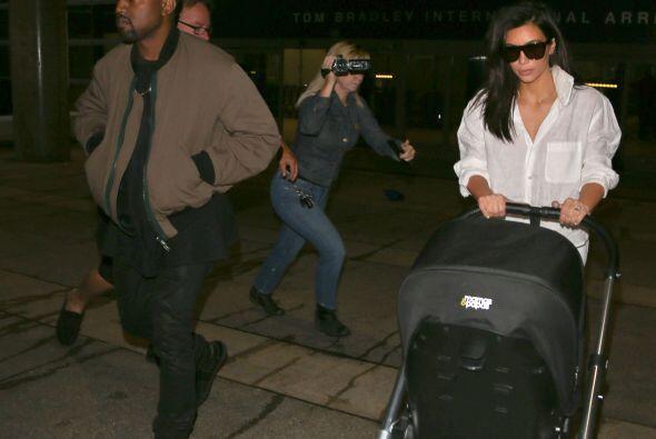 Su pequeña Nori viajó con ellos.