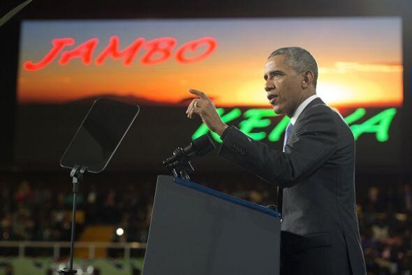 Obama se dirigió especialmente a los jóvenes, que representan un gran po...