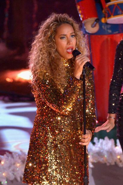 Una de las mejores presentaciones de la noche fue la de Leona Lewis quie...