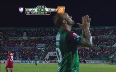 Jaguares vs Toluca: Matías Vuoso abre el marcador 1-0 para Jaguares