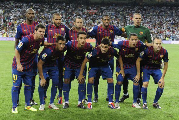 El Barcelona llegaba al estadio Santiago Bernabéu con un cuadro titular...