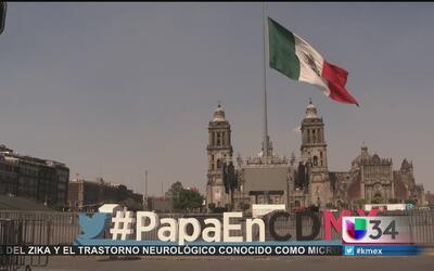 El Zócalo de la Ciudad de México ya está listo para recibir al papa