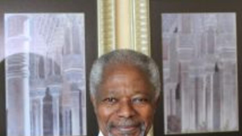 El emisario de la ONU y de la Liga Árabe, Kofi Annan.
