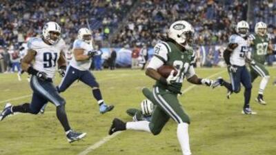 El juego en el que los Jets vencieron 16-11 a los Titans representó el r...