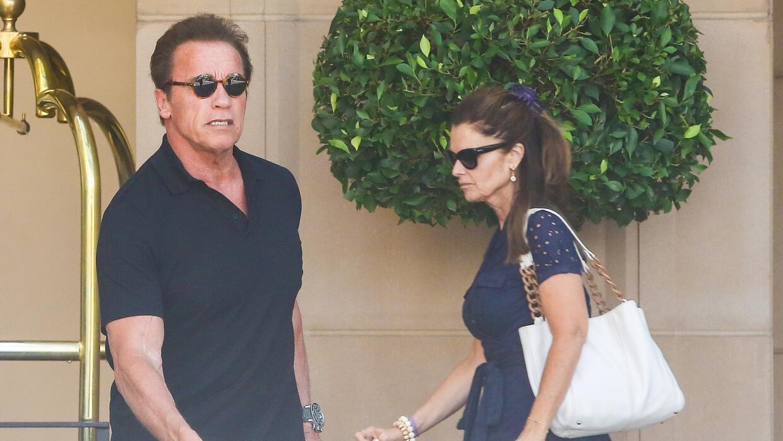 Arnold Schwarzenegger y Maria Shriver almorzaron juntos.