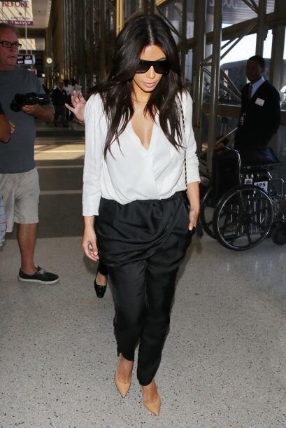 Si tú, como algunas veces Kim, tienes unas curvas de impacto que...
