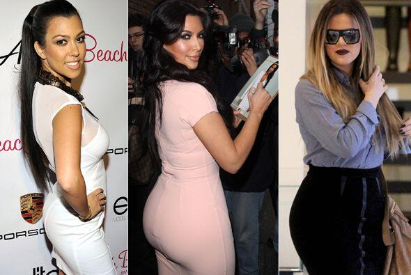 """Kim, Khloé y Kourtney presumen de tener la """"retaguardia"""" más sexy y lo d..."""