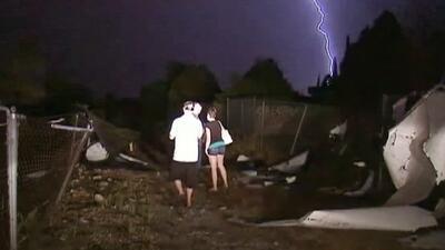 Fuertes tormentas azotan el centro del país