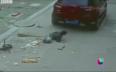 Captado en cámara: Atropellan a niño y él se levanta