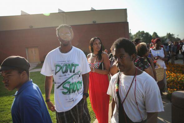 Algunos de los asistentes al funeral llevaban camisetas emblemáticas del...