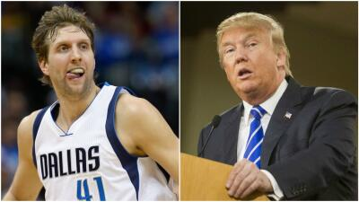 Dirk Nowitzki y Donald Trump