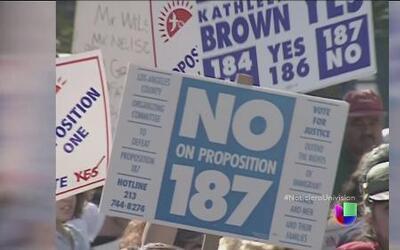 Propuesta antiinmigrante 187 fue declarado inconstitucional