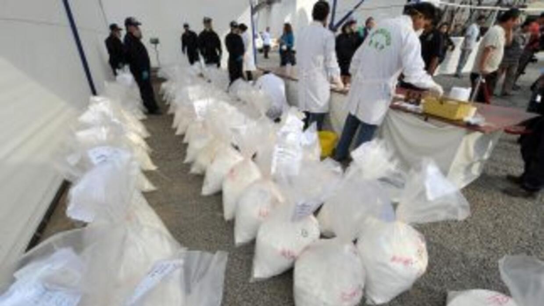 Los narcotraficantes encontraron un medio original de transportar cocaín...