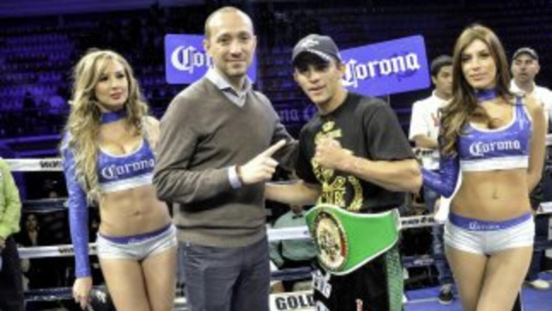 García nuevo campeón continental supergallo CMB (Foto: cortesía Canelo P...
