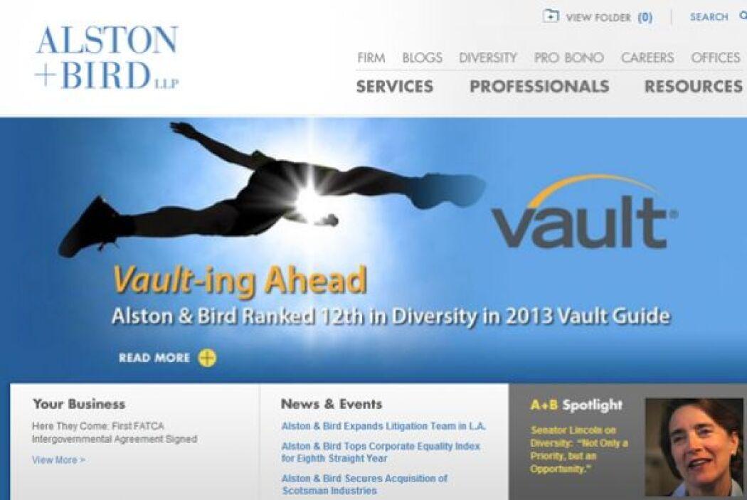 24. ALSTON & BIRD-  Número de empleados-1,645.  Industria- Servicios pro...