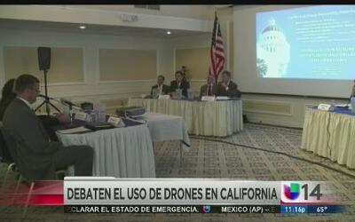 Debaten el uso de drones en California