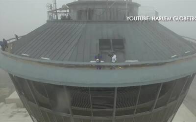 La increíble canasta a más de 170 metros de altura