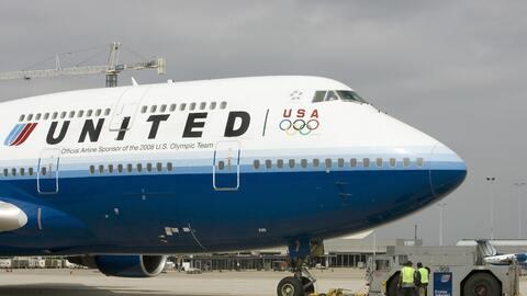 Un avión de la compañía United Airlines