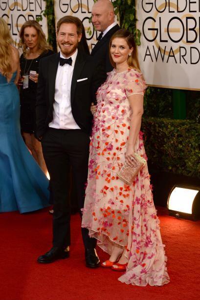 Otra de las embarazadas de la noche fue Drew Barrymore, por desgracia es...