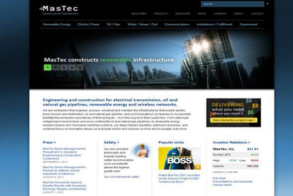 2. MasTec Inc.  Ubicación- Coral Gables, Florida.  CEO- Jose R. Mas.  Ti...