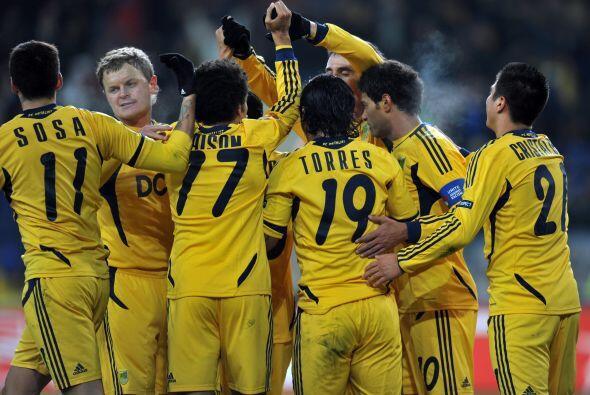 Por su parte, el Metalist de Ucrania goleó al Red Bull Salzburgo 4 a 1.