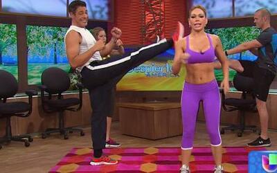 ¿No puedes ir al gimnasio? Ejercítate en cualquier parte con Claudia Molina