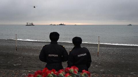 La aeronave se estrelló en el Mar Negro unos minutos despu&eacute...