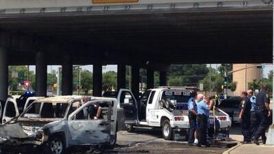 Persecución termina en choque al norte de Houston