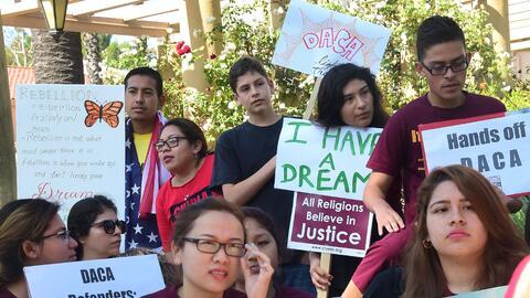 En EEUU hay unos 750,000 dreamers protegidos de la deportación por una a...