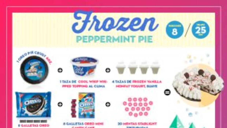 Este delicioso postre lo tiene todo, cremoso yogurt helado, sabor a ment...